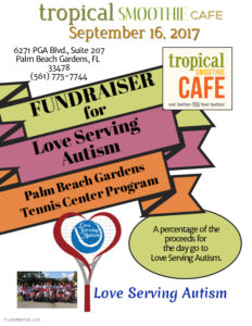 Tropical Smoothie Cafe Fundraiser Love Serving Autism